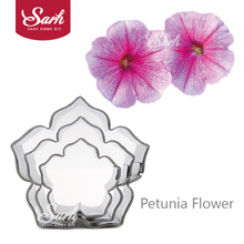 BXG227 Metal Cookie Cutters Set Petunia Flower Stainless Steel Tools Home Furnishing Products Kitchen Baking Supplies 3pcs/set