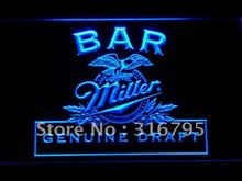 424 Bar Miller Beer LED Neon Light Sign Wholesale Dropshipping On/ Off Switch 7 colors DHL