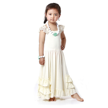 Summer Toddler Girl Clothing Long Maxi Dresses Girls Clothes Kaiya Boutique Clothing Children's Clothing Kids Dresses(China)