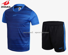 Hot sale 2016 Zhouka Latest Blank Soccer Jerseys Running suit with Best Quality