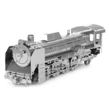 New Creative Railway Engine 3D Puzzles 3D Metal Model DIY Steam Locomotive Jigsaws Adult/Children Gifts toys Retro Train(China)