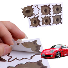 Bullet Hole Shot Hole Sticker Funny Decal For Car Laptop Window Mirror