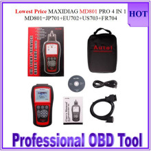 2016 Multi-Functional Scan Too Autel MD801 pro maxidiag 4 in 1 scan tool MD 801 (JP701 + EU702 + US703 + FR704) stock HOT SALE