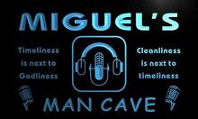 x0150-tm Miguel's Recording Studio Man Cave Custom Personalized Name Neon Sign Wholesale Dropshipping On/Off Switch 7 Colors DHL
