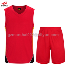 Latest  basketball wear,Wholesale red white basketball uniform
