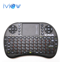 Battery Included black Mini i8 Russian Layout Wireless Keyboard + Touchpad Mouse Combo for HDPC Win7 Pad Google Andriod TV Box