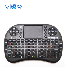 Battery Included black Mini i8 Russian Layout Wireless Keyboard + Touchpad Mouse Combo for HDPC Win7 Pad Google Andriod TV Box(China)