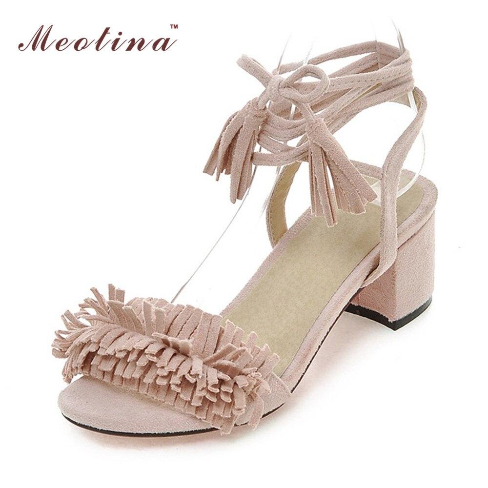 Design Shoes Women Sandals Summer Tassel Chunk Heels Sandals Heels Cross Strap Ladies Sandals Gladiator Shoes Gray 42 43<br><br>Aliexpress