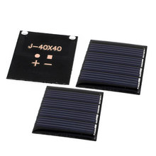 UXCELL 3 Pcs 2V 0.14W Diy Polycrystallinesilicon Solar Panel Power Cell Battery Charger 40Mm X 40Mm