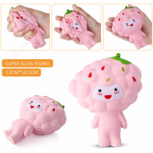 Cute Slow Rising Squishy Grapes Cartoon Doll 12CM Fruit Phone Straps Fun Kid Toy Squeeze Soft Relieve Charm Anxiet Gift