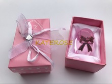 (DHL,UPS,Fedex)FREE SHIPPING+50pcs/Lot+Baby Girl Christening Gift Pink Crystal Baby Bootie Keepsakes Crystal Shoe Baby Souvenirs