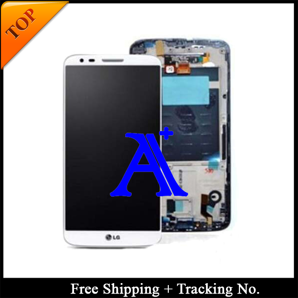 Free Shipping + Tracking No. + Tools 100% tested  For LG Optimus G2 D802 D805 LCD Touch Screen Assembly Frame - White/Black<br><br>Aliexpress