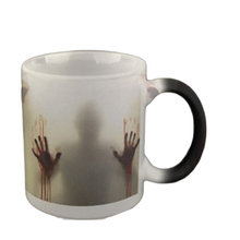 New Design The walking dead Mug color changing Heat Sensitive  Ceramic coffee cup surprice gift for boy friend