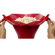 DIY Popcorn Bucket Microwaveable Popcorn Maker Foldable Pop Corn Bowl Microwave Safe Popcorn Maker Kitchen Bakingwares