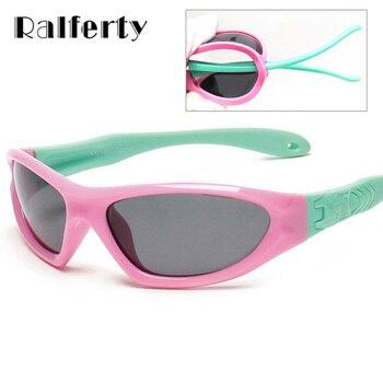Ralferty TAC Óculos Polarizados Crianças Bebê Infantil assento de Segurança para Crianças Revestimento Moda Óculos de Desporto Ao Ar Livre Óculos Shades oculos 873