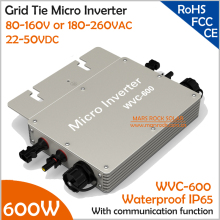 Wateproof 600W Grid Tie Micro Inverter with Communication Function Matched 2 Meter AC Connection Cable for 30V or 36V PV Panel