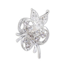 Drop Shipping Charming Accessories Alloy Hollow Butterfly Rhinestone Brooch Pin Collar YBRH-0253