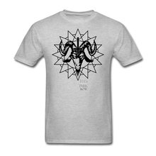Tee Shirts Mens Satanic Goat Head with Chaos Star Mens Round Neck Tee Shirt Best Selling Mens Tee Shirt Design