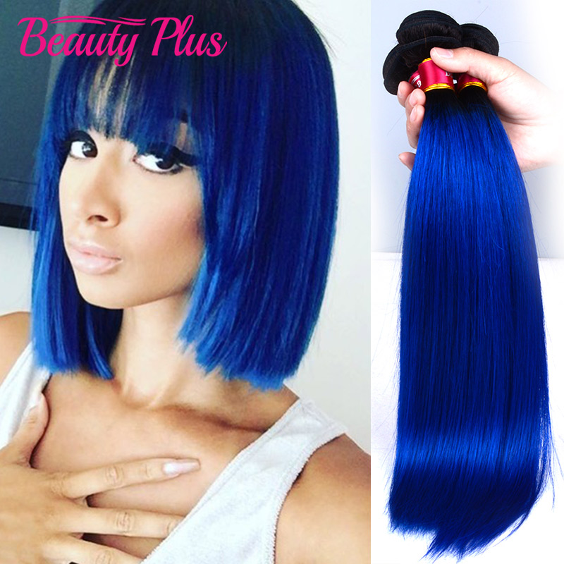 Blue Ombre Virgin Hair Straight Bundles 3 Pcs Lot 100% Peruvian Human Hair Straight Weave Dark Roots Blue Ombre Hair Extensions<br><br>Aliexpress
