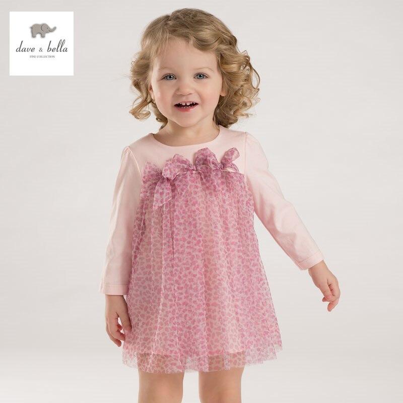 DB3094 dave bella spring baby girls leopard dress girls princess dress  wedding party dress<br>