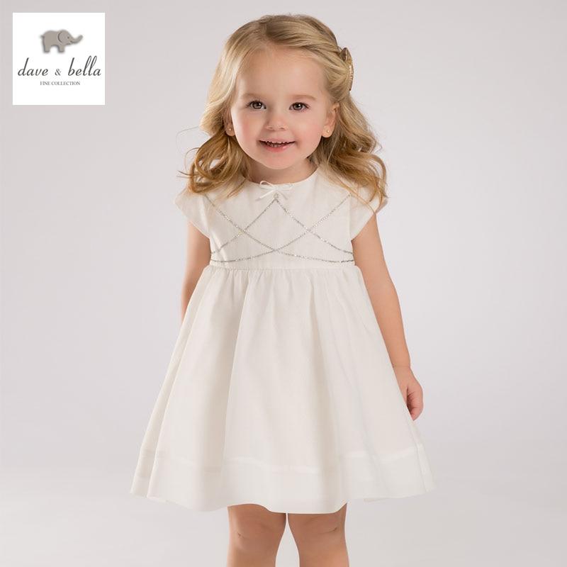 DB3416 dave bella summer baby girl princess dress baby wedding dress kids birthday clothes dress<br>