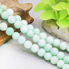 Green Chalcedony Stones Beads Round Women Girl DIY Gift New Hot Sale Jewelry Making Design Make Wholesale and Retail 15''(China)