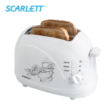 Scarlett SC - TM11007 700W Toaster Defrost Function Mechanical Control Bread Maker Cool Touch Housing Reheat function Crumb tray