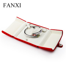 Oirlv  Free Shipping 6PCS/LOT Hot Bracelet Bangle Box Display Holder Gift Red Plush Jewellery Box Counter Shop Expositor