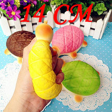 14CM Cute Kawaii Jumbo Squishy Tortoise Phone Straps Charms Bread Scented Slow Rising Turtle Hand Pillow Pendant Kid Toys Gift(China)