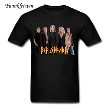 Newest Male Fine Custom Def Leppard Tee Shirts Man's O Neck New Style Tee Shirts Colorful Personalised Mans Rock T Shirt Summer