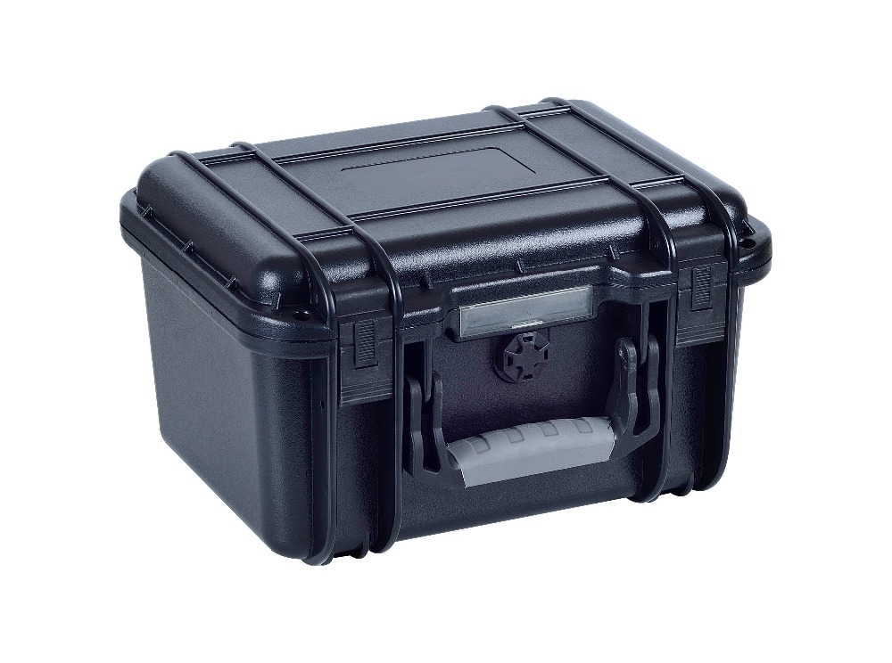 injection mould Stackable plastic flight case with pick pluck foam<br>
