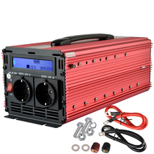 3000W 6000 Watt peak LCD digital inverter 12v to 220v modified sine power inverter  for home outerdoor converter
