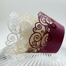 Multiple modeling vine swirls muffin cupcake wrapper laser cut different colors(China)