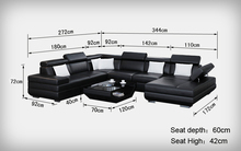 comfortable  leather sectional sofa 0413-K5009
