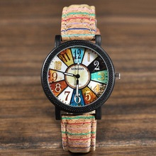 FUNIQUE Cute Target Pattern Cartoon Watches Women Fashion PU Leather Strap Quartz Watch  Brand Ladies Wristwatch Clock
