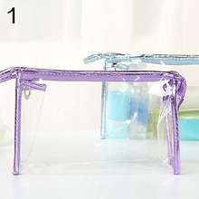 Transparent Clear Zipper PVC Cosmetic Make Up Toiletry Bag Travel Pouch Holder