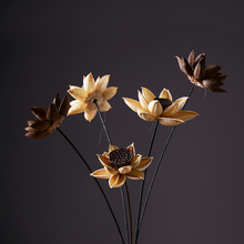 American style dried flower fake and Artificial Flower dry lotus flower water lily hand made home furnishing decoration flower