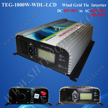 dc 45-90v to ac 90-130v/190-260v wind grid tie inverter,wind turbine 1000w pure sine inverter