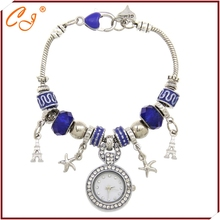 New Fashion Purple Bead Bracelet Watch for Women and Girl Wristwatch US Warehouse Shipping