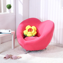 SOLO highqualityLove shape lazy sofa children chair exquisite couch countryside computer stool bedroom furniture kids sofa bed(China)