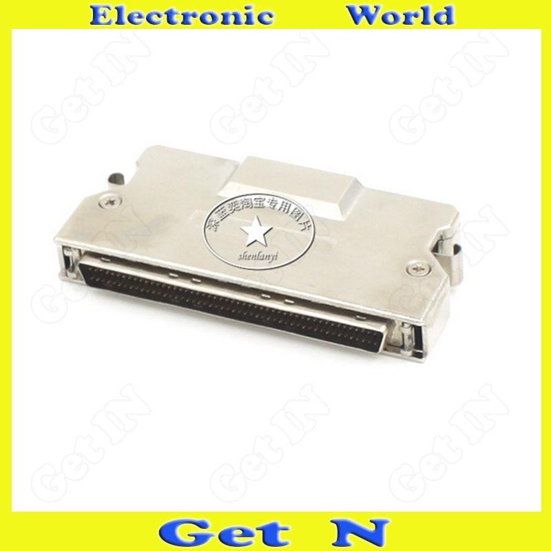 1pcs MD100M-AL SCSI Connector High Density DB100pin Welding Male Adapter Iron Shell Plug Socket<br>