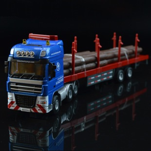 Lumber Truck Alloy Truck Trailer 1:50 Children Toy Car Model Birthday Gift Christmas Gift(China (Mainland))
