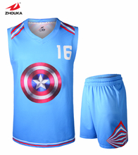 2016 Newest Design Sublimation custom sleeveless basketball jerseys V collar free shipping