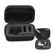 For Gopro Accessories High Quality Protective Storage Carry Case Box Bag for Hero4/3+/3 sjcam xiaomi yi Eken h9 H9R action cam(China)