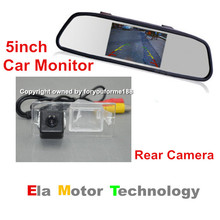 5'' Screen TFT LCD Car Color Rearview Mirror Monitor + Car Back Up Reverse Parking Camera For Dodge Intrepid 1998~2004