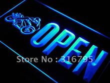 j763 OPEN Motorcycles Auto Shop Car LED Neon Light Sign Wholeselling Dropshipper On/ Off Switch 7 colors DHL