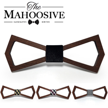 Wooden Fashion Bowties Groom Normal Mens wood Hollow Cravat Gift For Men Butterfly Gravata Male Marriage Wedding Bow Ties(China)