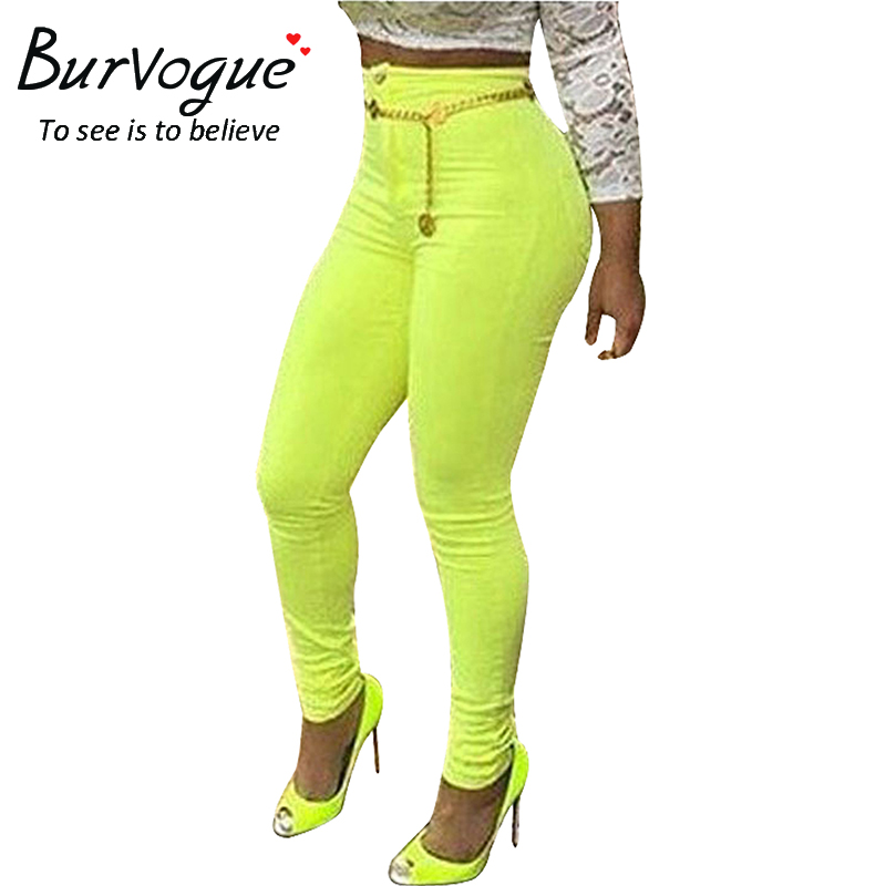 Burvogue 2017 New Women Casual Ripped Jeans Slimming Sexy Long Jean Pants for Girl Skinny Jean Pants High Waist Skinny JeansОдежда и ак�е��уары<br><br><br>Aliexpress