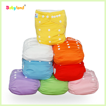 Newest patterns babyland cloth diapers with two microfibre inserts (35pcs )(China)