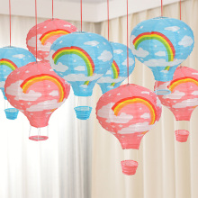 5Pcs/lot 12inch DIY Rainbow Hot Air Balloon Paper Lantern Fire Sky Lantern Ball For Wedding/Birthday Party/Christmas Decoration(China)